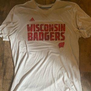 Wisconsin Badger Adidas climalite tee